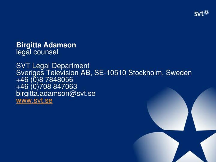 Birgitta Adamson