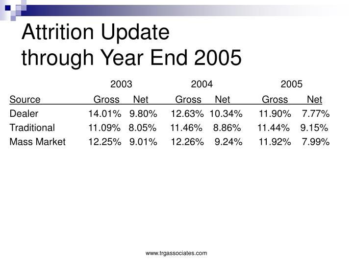 Attrition Update