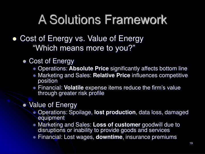 A Solutions Framework