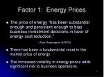 factor 1 energy prices