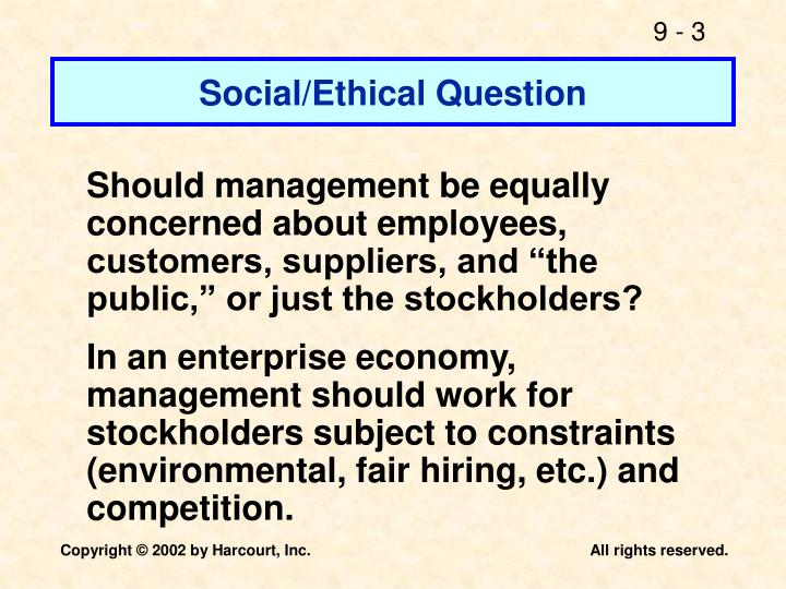 Social/Ethical Question