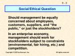 social ethical question