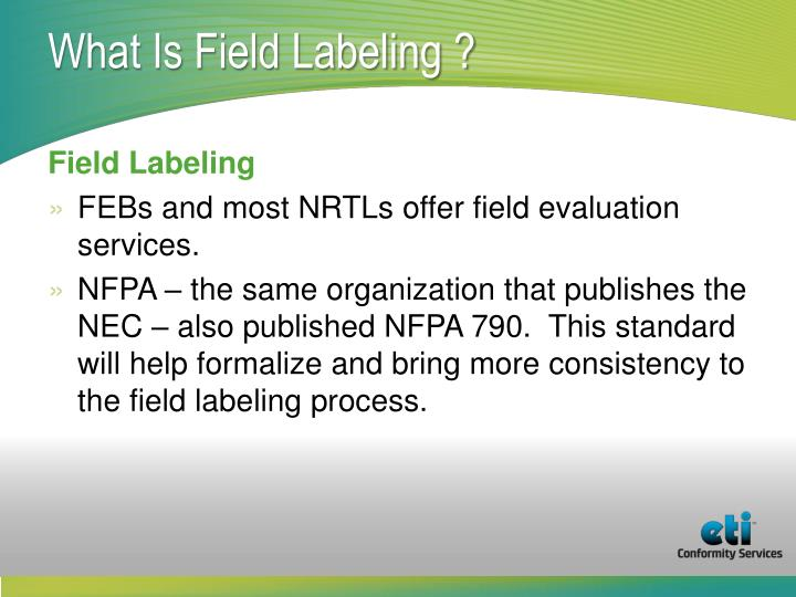 What Is Field Labeling ?