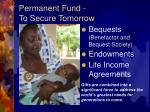 permanent fund to secure tomorrow