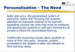 personalisation the need1
