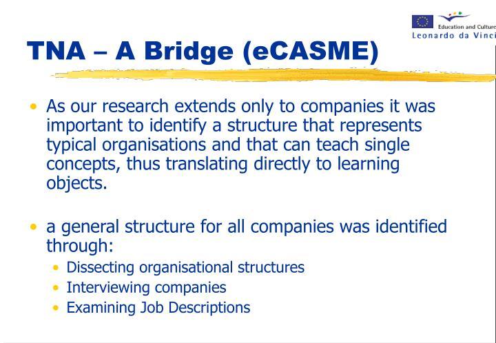 TNA – A Bridge (eCASME)