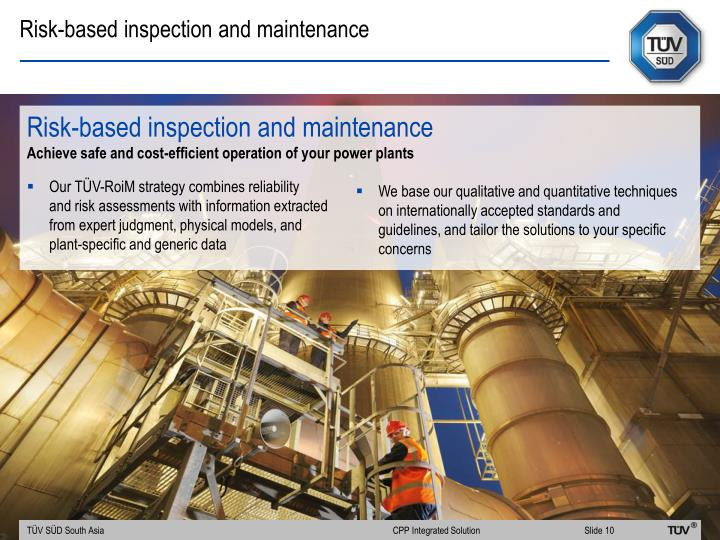 Risk-based inspection and maintenance