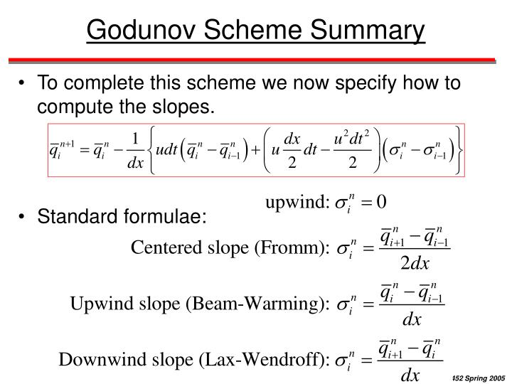 Godunov Scheme Summary