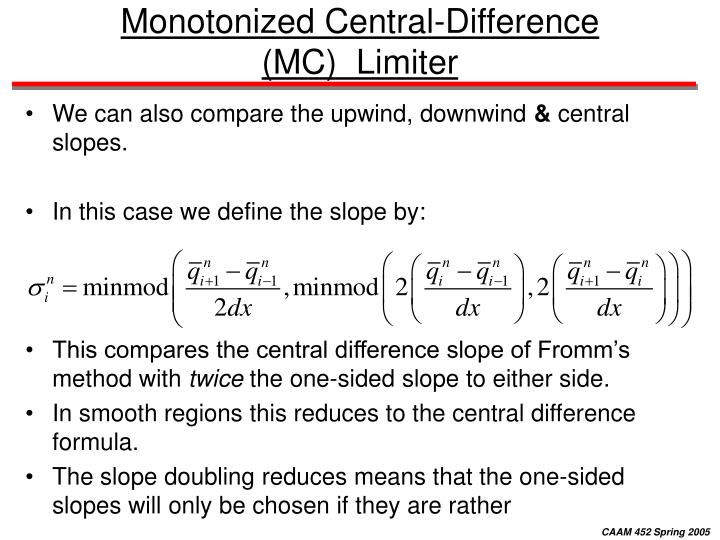Monotonized Central-Difference