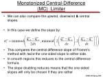 monotonized central difference mc limiter