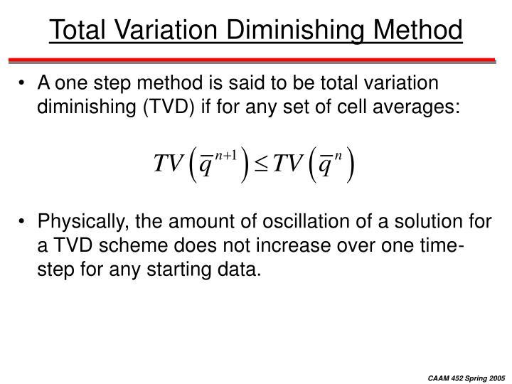 Total Variation Diminishing Method