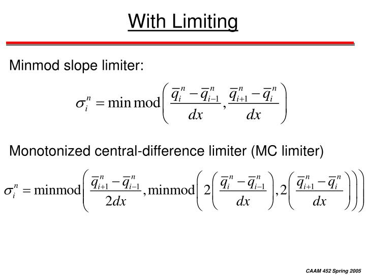 With Limiting