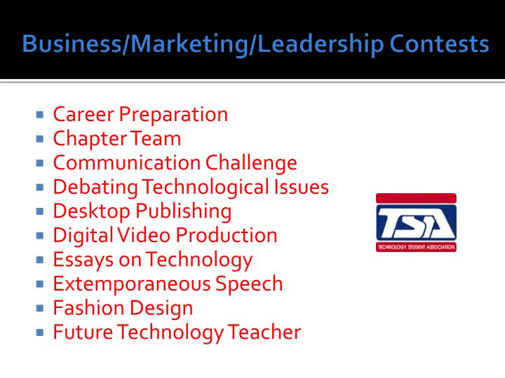 Business/Marketing/Leadership Contests