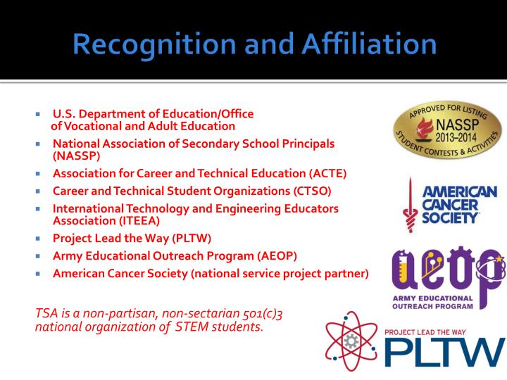 Recognition and Affiliation