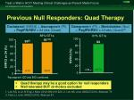 previous null responders quad therapy