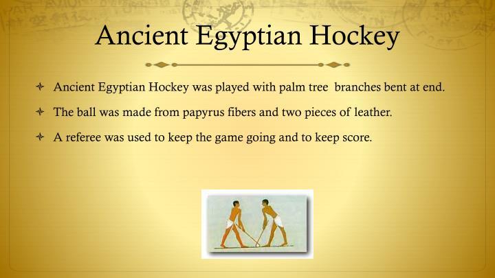 Ancient Egyptian Hockey