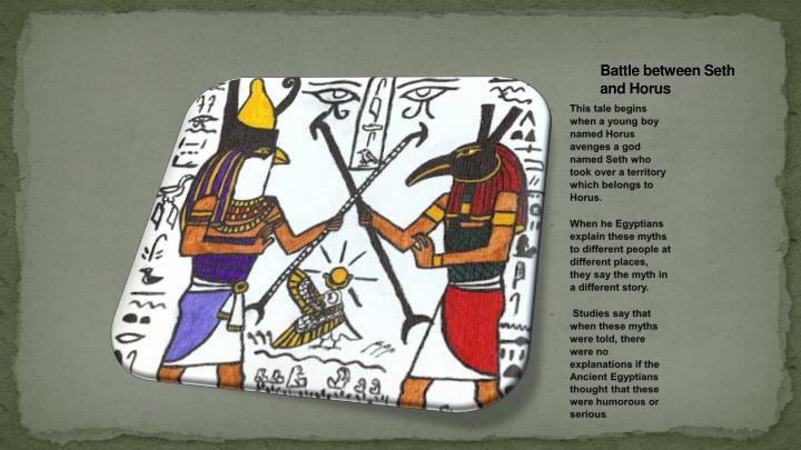 Battle between Seth and Horus