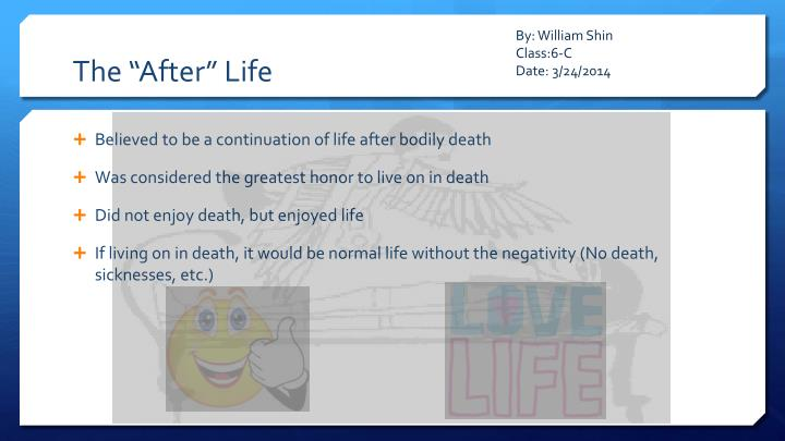 """The """"After"""" Life"""
