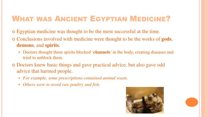 What was Ancient Egyptian Medicine?
