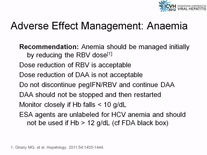 Adverse Effect Management: Anaemia