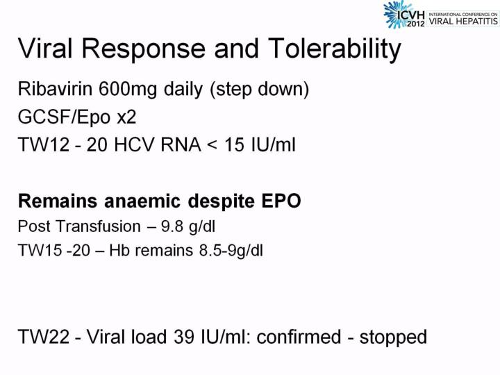 Viral Response and Tolerability