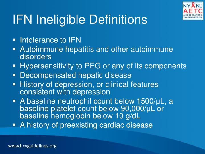 IFN Ineligible Definitions