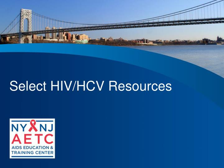 Select HIV/HCV Resources