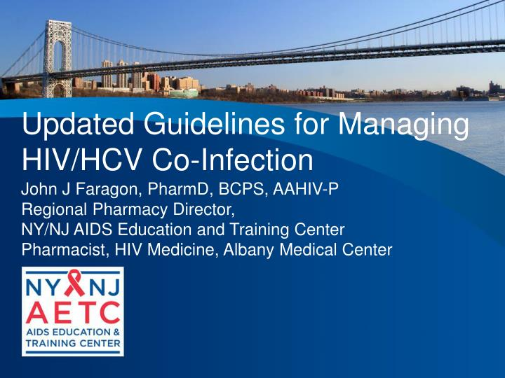 Updated Guidelines for Managing HIV/HCV Co-Infection