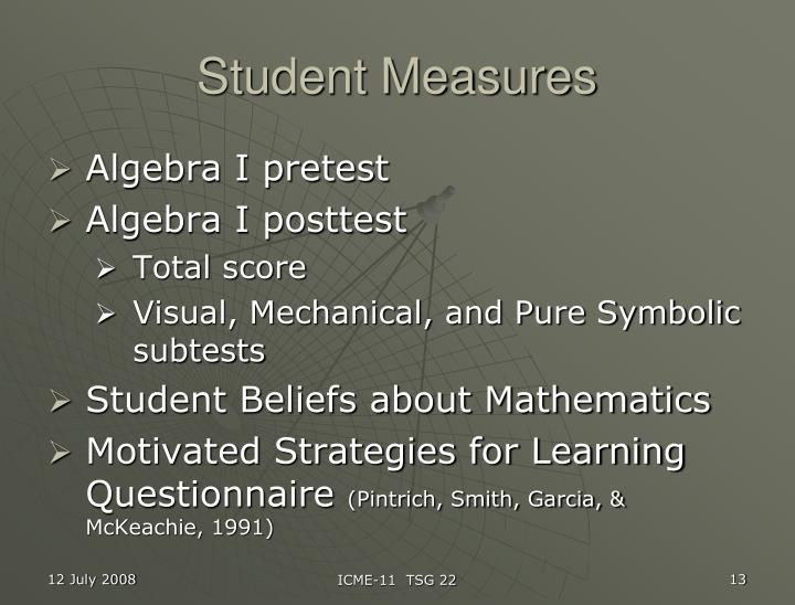Student Measures