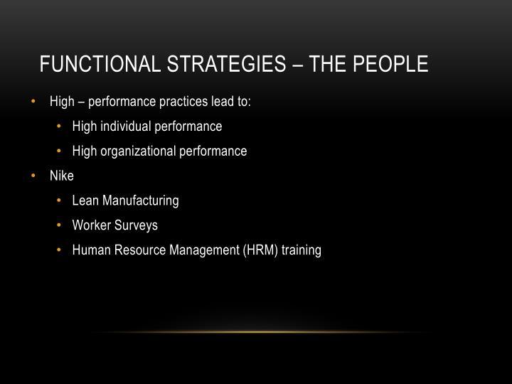 Functional Strategies – The People