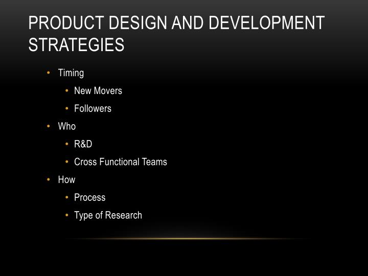 product design and development strategies