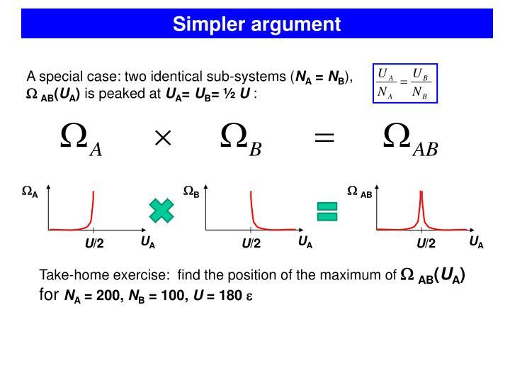 Simpler argument