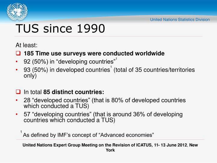TUS since 1990