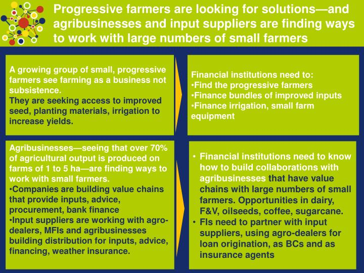 Progressive farmers are looking for solutions—and agribusinesses and input suppliers are finding w...