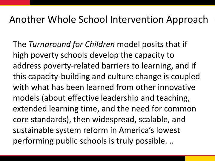 Another Whole School Intervention Approach
