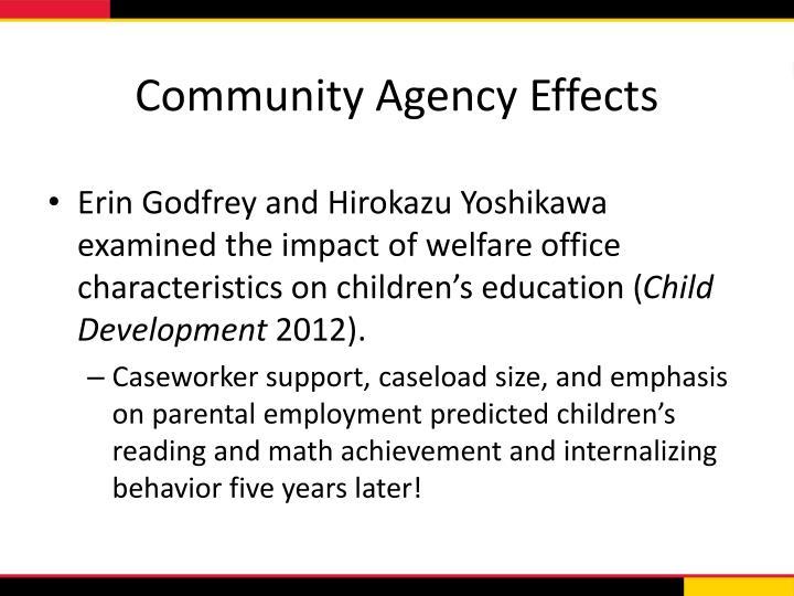 Community Agency Effects