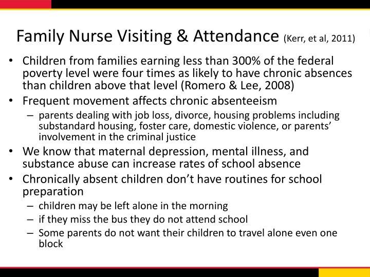 Family Nurse Visiting & Attendance