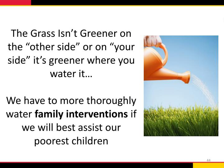 """The Grass Isn't Greener on the """"other side"""" or on """"your side"""" it's greener where you water it…"""