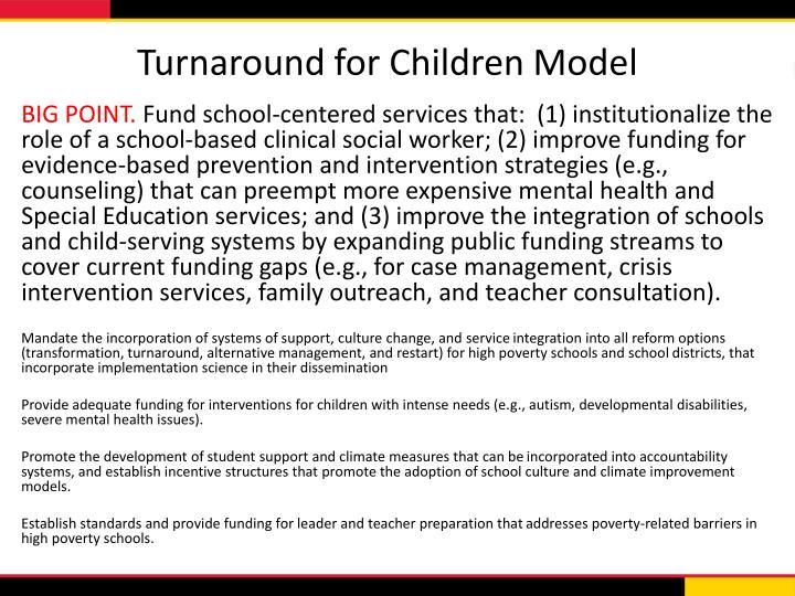 Turnaround for Children Model