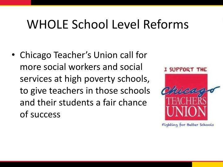 WHOLE School Level Reforms
