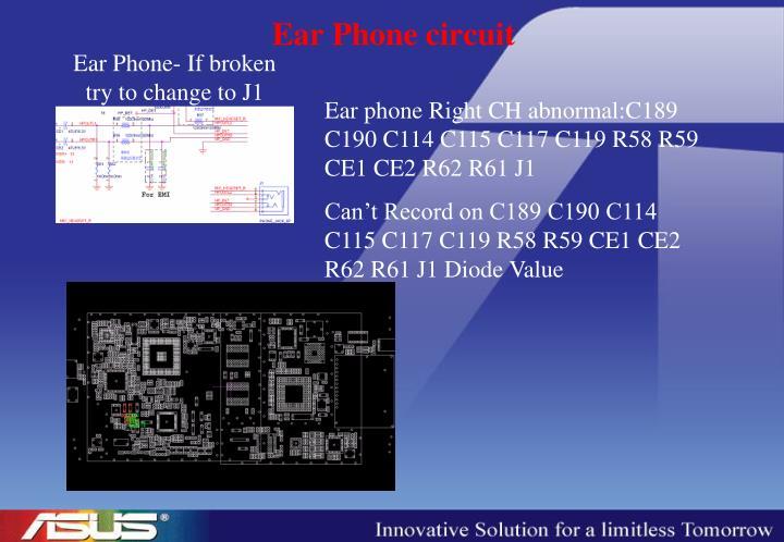 Ear Phone circuit