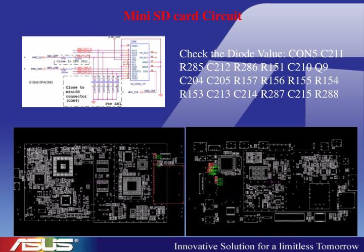 Mini SD card Circuit