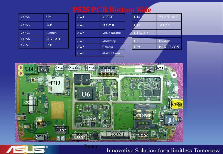 P525 PCB Bottom Side