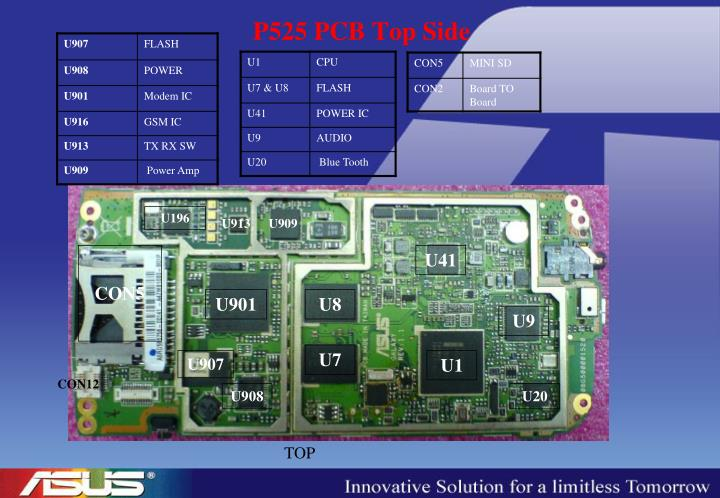 P525 PCB Top Side