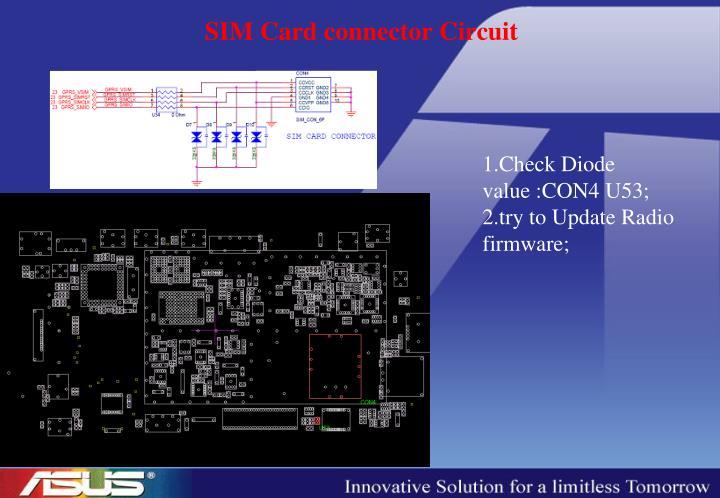 SIM Card connector Circuit