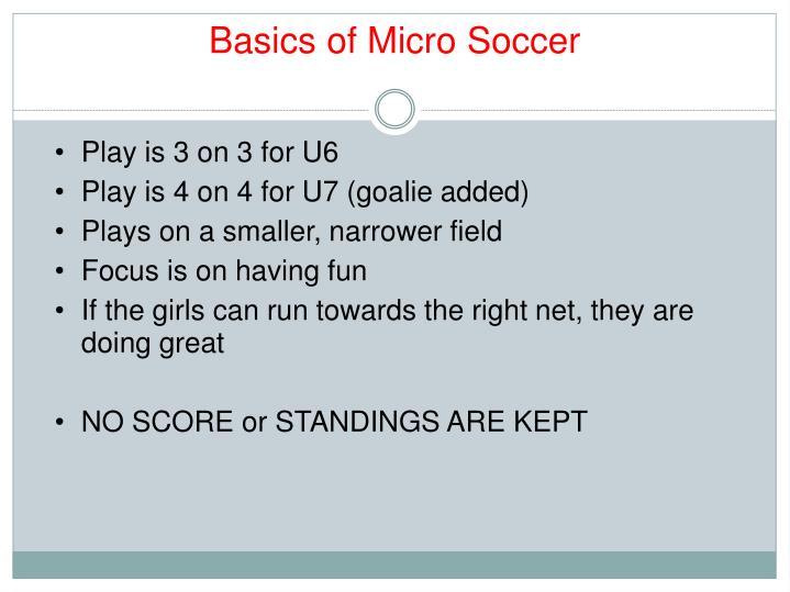 Basics of Micro Soccer