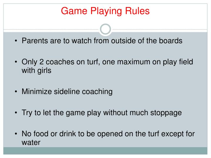 Game Playing Rules