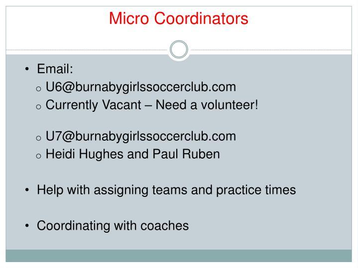 Micro Coordinators