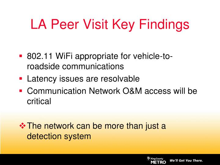 LA Peer Visit Key Findings