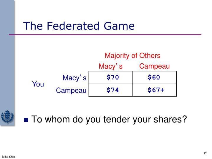 The Federated Game